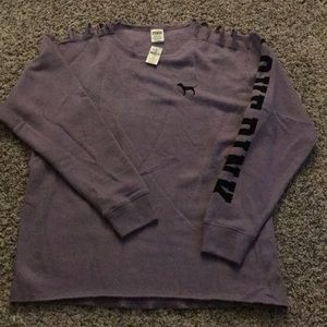 Purple Victoria's Secret Pink Crew Neck